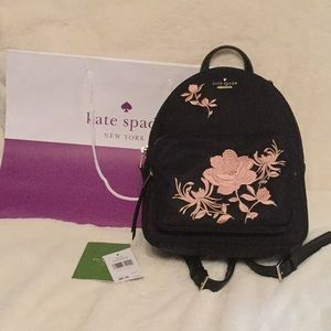 Kate Spade ♠️ Noria embroidered backpack